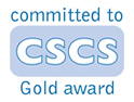 CSCS - Gold Award. Bootle Glass are commited to ensuring we have a competent workforce.